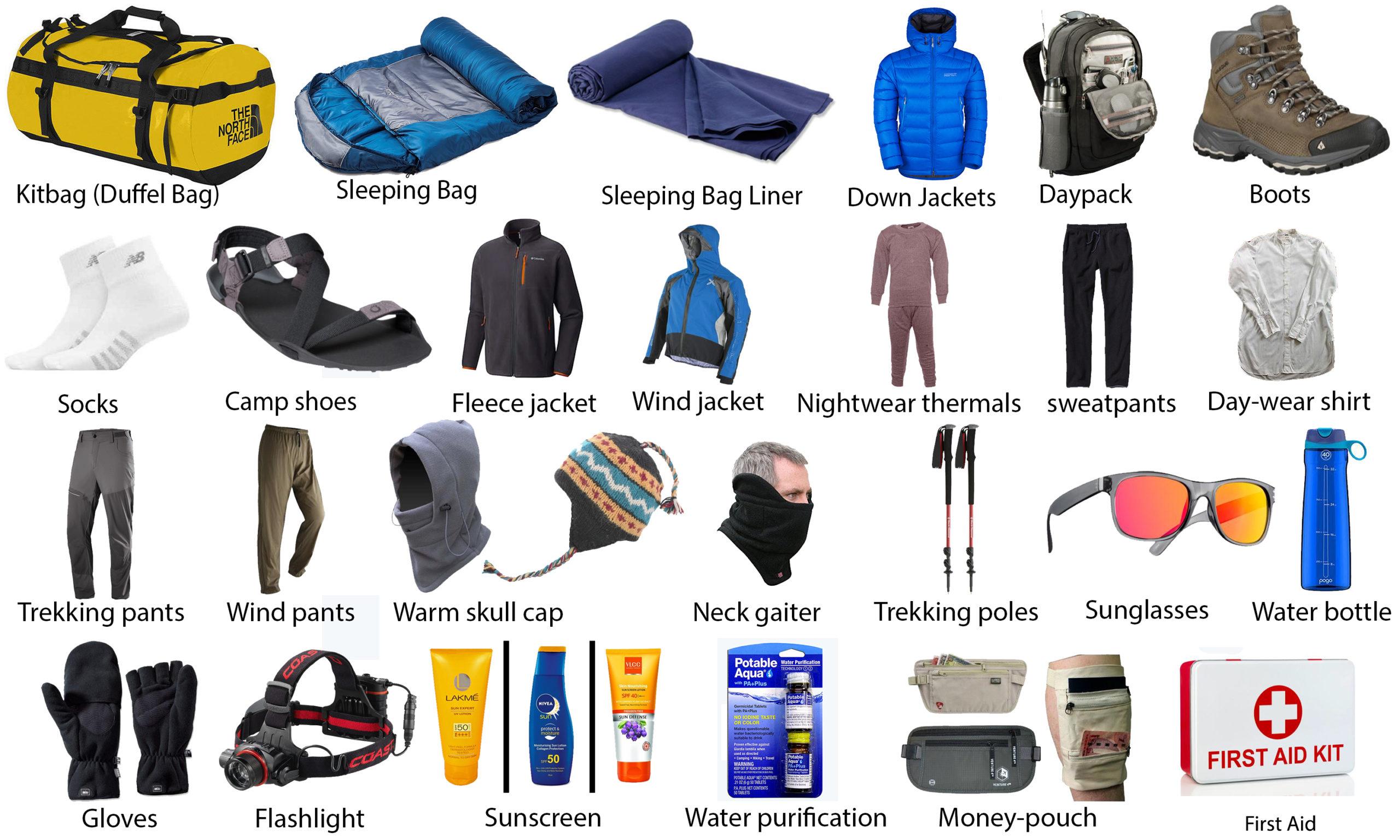 trekking equipment list in nepal