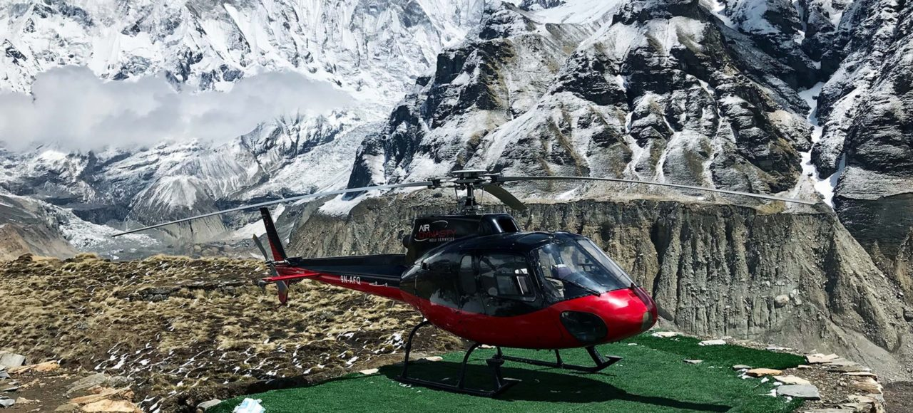 annapurna base camp helicopter tour, annapurna base camp heli tour